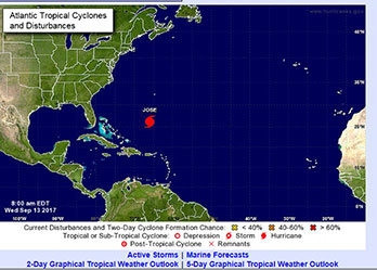 National Hurricane Center map