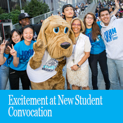 Cover image for Excitement at New Student Convocation
