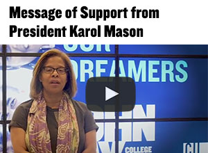 Watch message of support from President Karol Mason