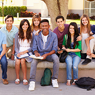 Group of students sitting