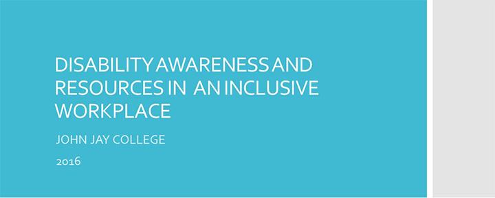 Disability Awareness Training Presentation link