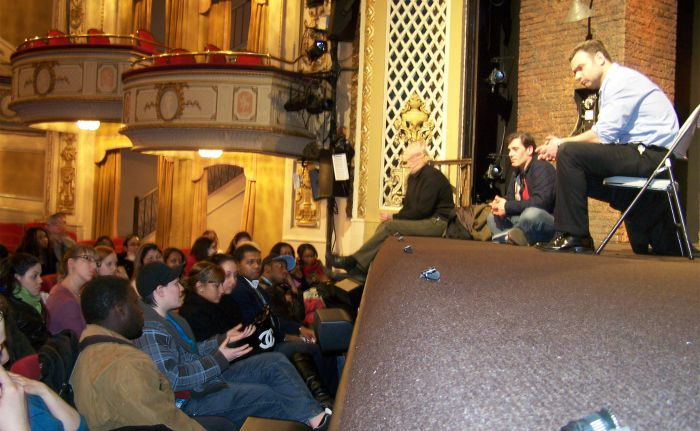ISP student chat with Liev Schreiber, A View from the Bridge theater trip, 2010