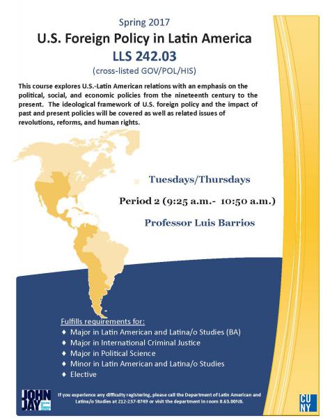 LLS 242 U.S. Foreign Policy in Latin America