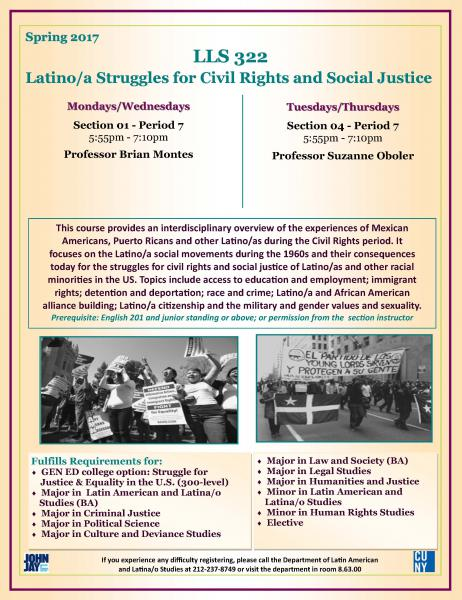 LLS 322 Latina/o Struggles for Civil Rights and Social Justice