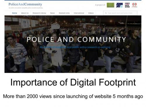 Screenshot of Police and Community Website