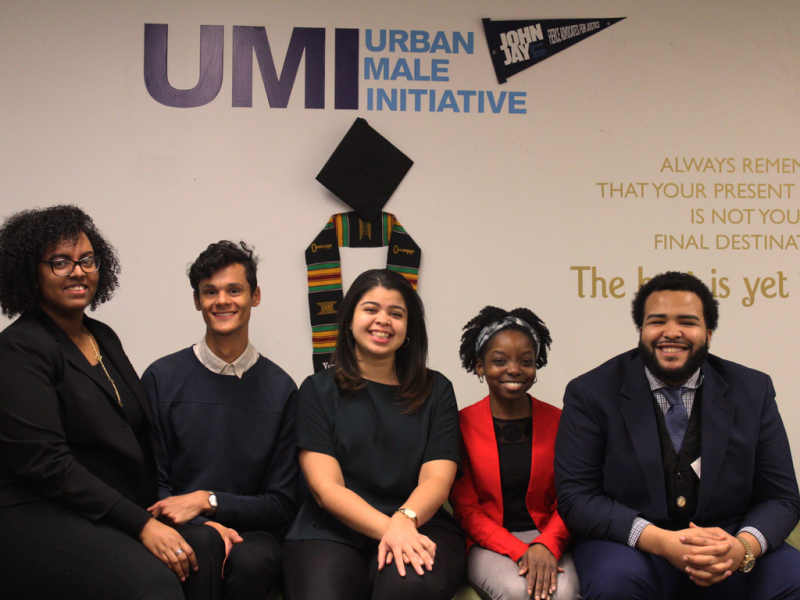 The Image of the UMI Team. From Left to right, Yuleisy Audain, Dillon Epperson, Maria E.Vidal, Jasmine Gayle and Manuel Castillo