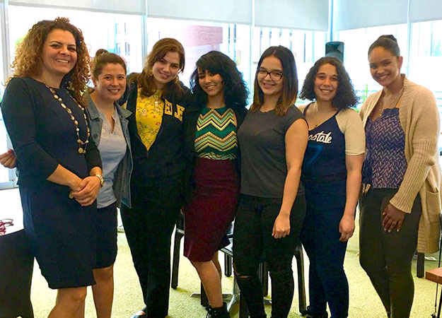Slivia Mazzulam, Department of Psychology Lunch with students