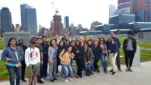Mary Ting, Sustainability and Environmental Justice. Event: Class Lunch after Green Roof Tour