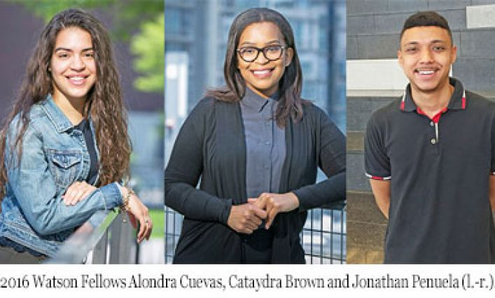 Prestigious Watson Fellows Program Taps Three John Jay Students