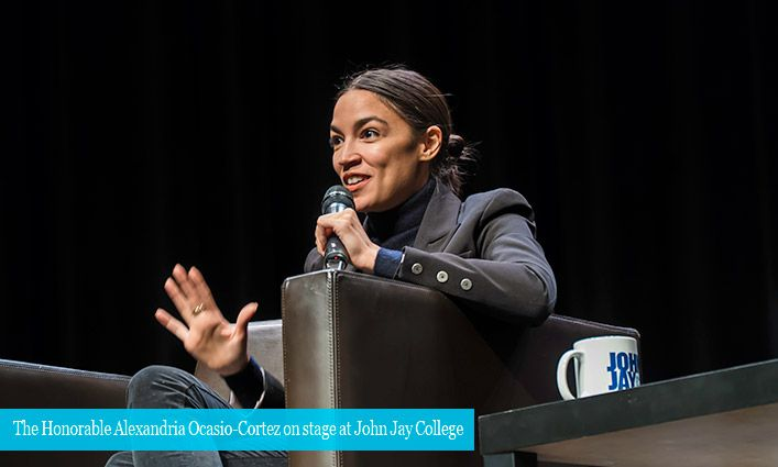 Congresswoman Alexandria Ocasio-Cortez Captivates the Audience At John Jay College