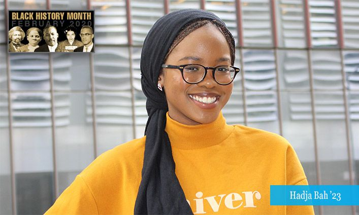 Malcolm/King Award Winner Hadja Bah '23 Hopes to Advocate for African-American and Muslim Communities as a Lawyer and Writer