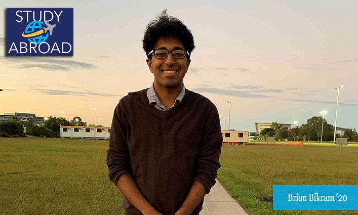 Brian Bikram '20 Explores his Passion for Anthropology in Australia