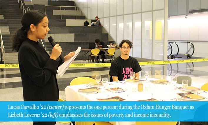 COSL's 8th Annual Oxfam Hunger Banquet Demonstrates the Inequality of Poverty and Hunger