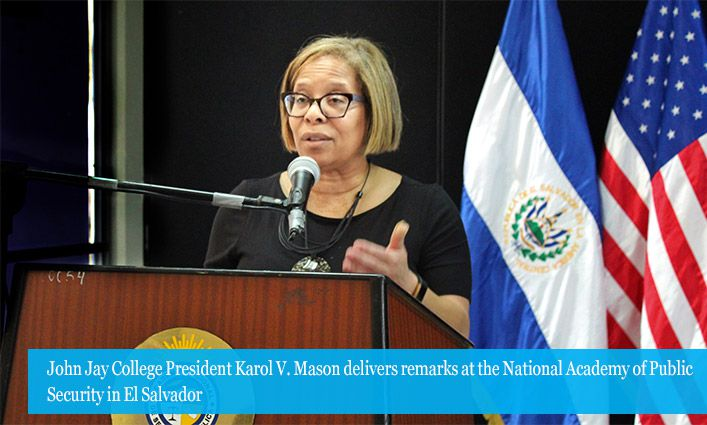 John Jay College Deepens Partnerships with El Salvador's National Academy of Public Security and José Simeón Cañas Central American University