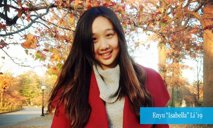 "Alumna Enyu ""Isabella"" Li '19 Credits John Jay and Proskauer with Helping Her Achieve Her Law School Dreams"
