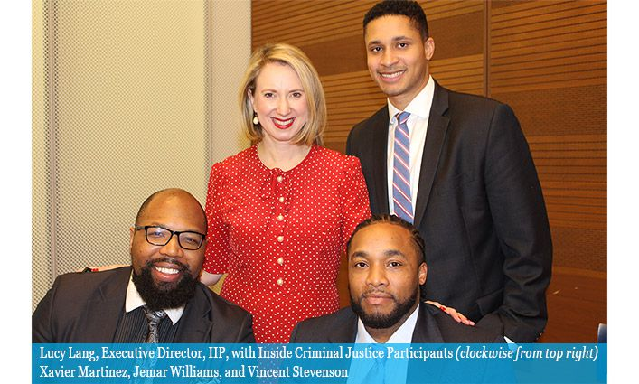 The Institute for Innovation in Prosecution Awards Certificates to Inside Criminal Justice Participants