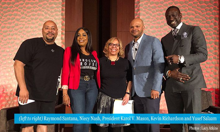 President Karol V. Mason Moderates Central Park Five Panel at The Innocence Network Conference
