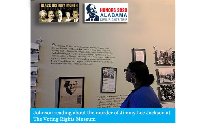 Honors 2020 Alabama Civil Rights Trip: Tyler Johnson '22 Grapples With The Painful Legacy of Slavery, Segregation, and Racial Terror