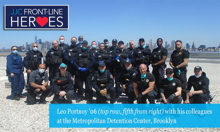 Front-Line Heroes: Leo Portnoy '06 Shares His Experience Fighting Covid-19 at a Correctional Facility