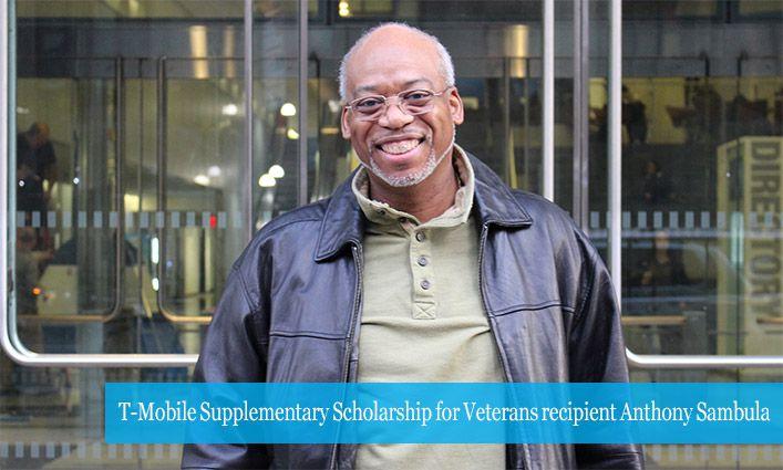 Anthony Sambula '01 Named A Winner of the T-Mobile Supplementary Scholarship for Veterans