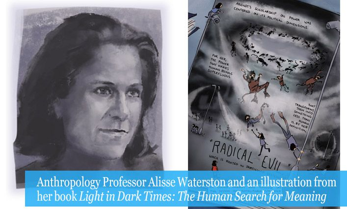 Anthropology Professor Alisse Waterston Urges Readers to Envision an Alternative World in Her Graphic Book Light in Dark Times