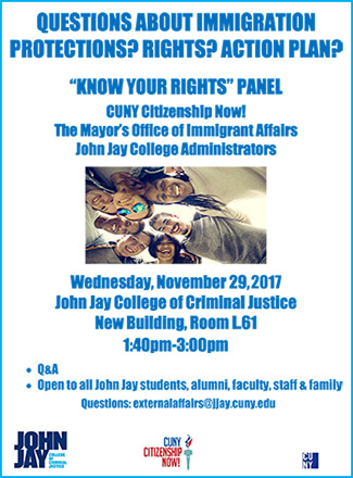 """Know Your Rights"" Panel November 29, 2017"