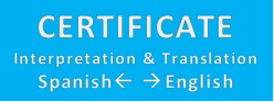 Certificate Interpretation & Translation Spanish -> English