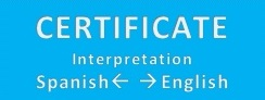 Certificate Interpretation Spanish -> English