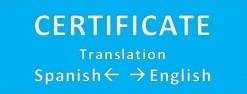 Certificate Translation Spanish  -> English