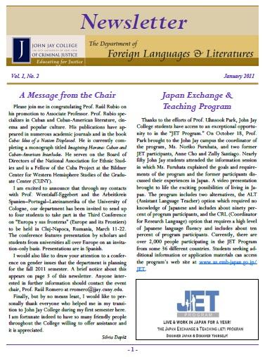 Newsletter January 2011