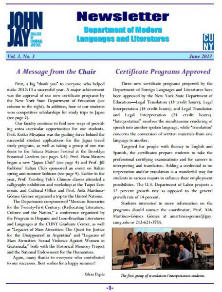Newsletter June 2013