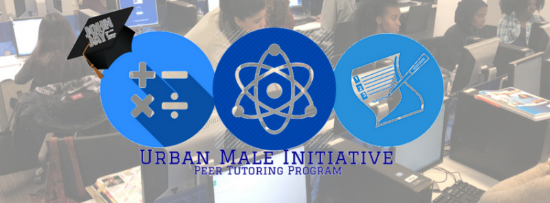 Peer Advocates logo with image of students in UMI Learning Lab