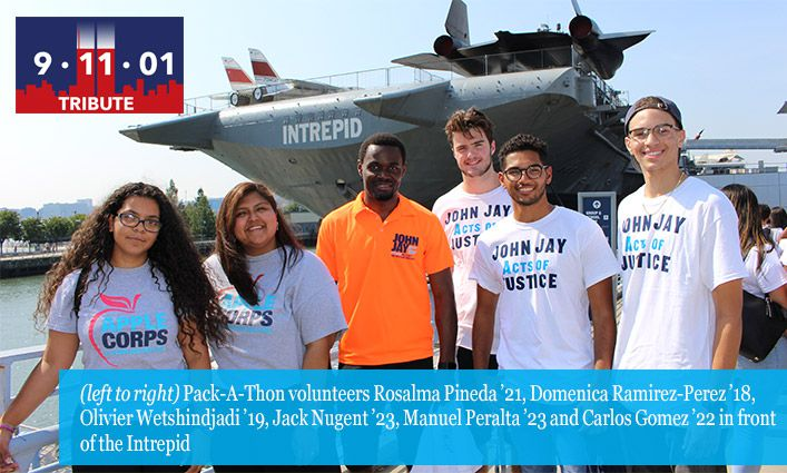 John Jay Community Volunteers for 9/11 Day Citywide Pack-A-Thon
