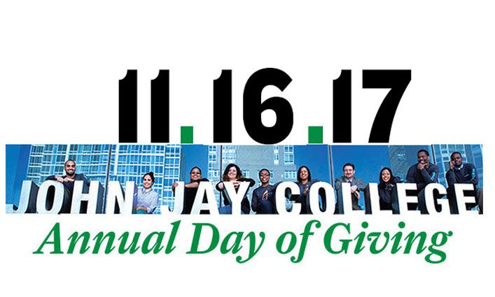 John Jay's Fourth Annual Day of Giving Raises over $100,000 Towards Student Success