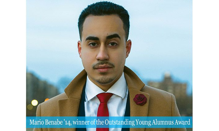 The Outstanding Young Alumnus Award Winner Mario Benabe '14 Teaches For Justice