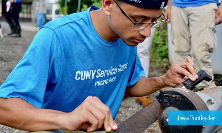 Jesse Funtleyder '21 Volunteers in Puerto Rico with CUNY Service Corps