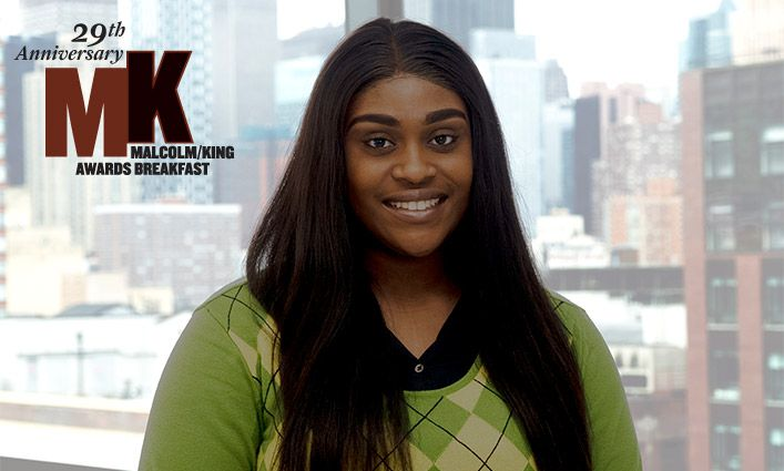 Nia Daniels '20 Malcolm/King Award Winner Hopes to Promote Social Change Through Cybersecurity