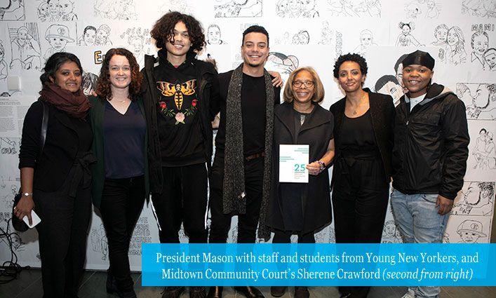 President Mason Celebrates Midtown Community Court's 25th Anniversary at MoMA