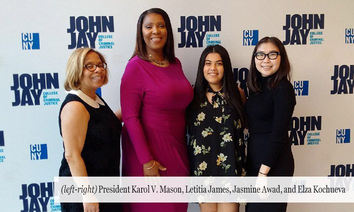 Student Council President and Vice President Meet New York Attorney General Letitia James
