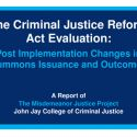 Impact of NYC's Criminal Justice Reform Act